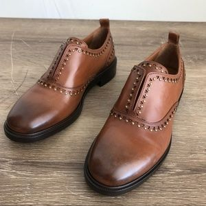 New Frye Annie Stud Oxford Made in Italy Size 36